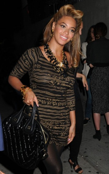 Beyonce wearing  Keith Haring Design