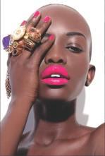 dark skin bright pink