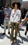 solange-knowles-mismatched-prints-mbfw