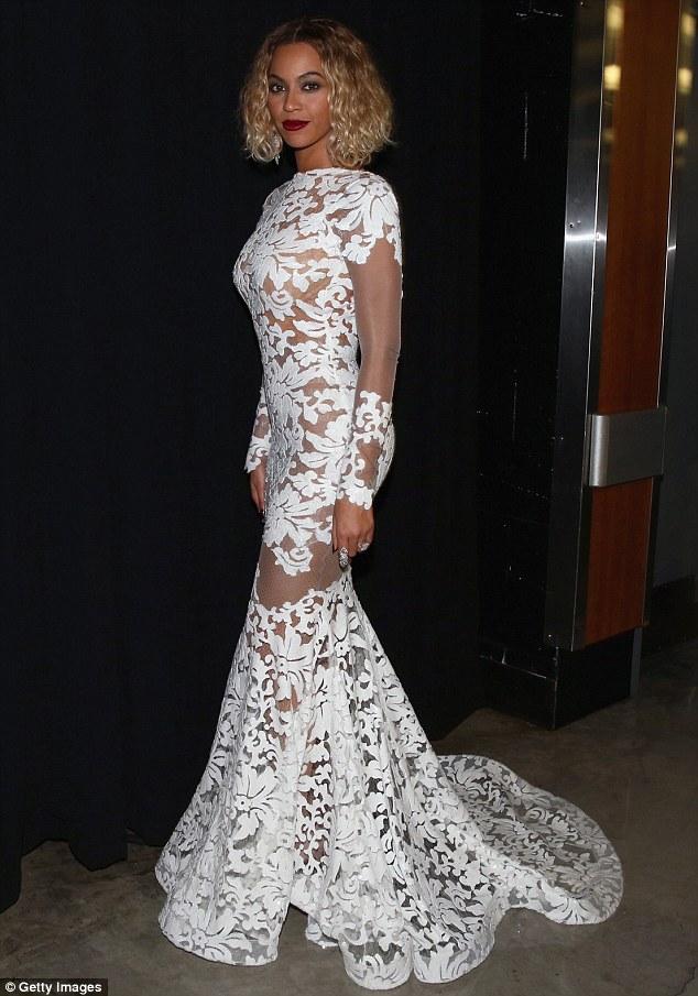 Beyonce-white-lace-dress-Grammy-Awards-2014-rhodiesworld-6 ... Beyonce Prom Dresses 2014
