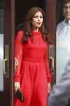 stunning+Eva+Mendes+red+romper+dress+leaves+yl7oe26IwT0l