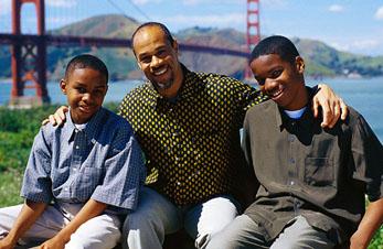 aa dad 2 teen sons golden gate