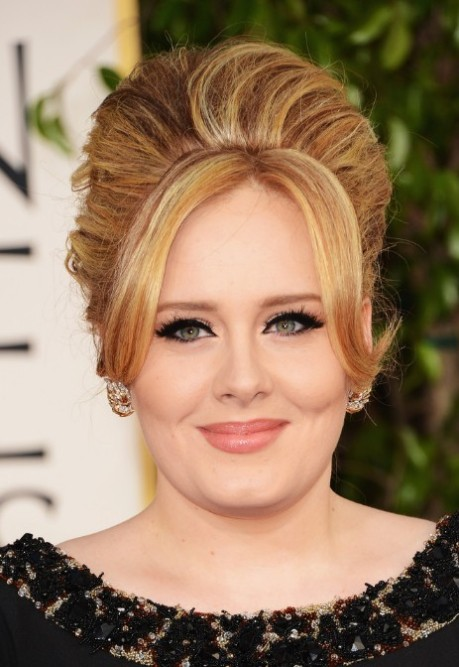 adele-hairstyles-beehive-updo-with-bangs